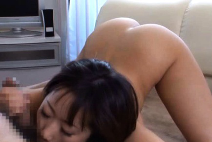 Japanese av model. Japanese AV Model with voluminous jugs has haired vagina fingered and moans