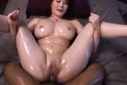 Momoka nishina. Momoka Nishina Asian with huge oiled cans suc cock during doggy