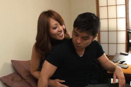 Yuu sakura. Yuu Sakura Asian with big tits has poonanie rubbed over thong