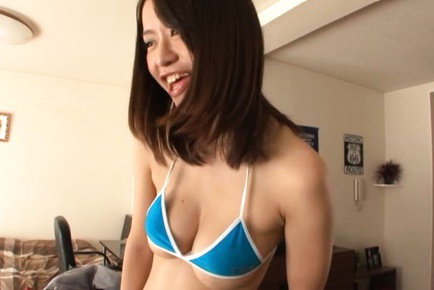 Kaede niiyama. Kaede Niiyama Asian with voluminous jugs in petite bra touches naked man