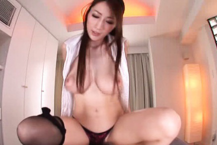 Julia. JULIA Asian plays with her huge boobs and takes penis
