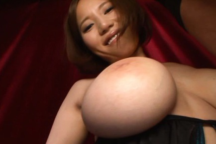 Ruri saijo. Ruri Saijo Asian in panty and shaking huge jugs licks phallus
