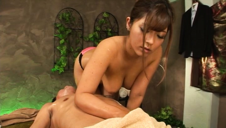 Satou haruka. Satou Haruka Asian touches man hands with her oiled great assets