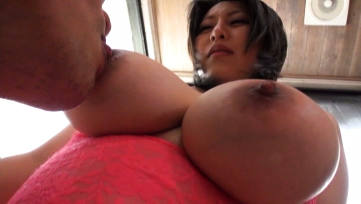 Japanese av model. Japanese AV Model has huge melons fondled and sucked in bathroom