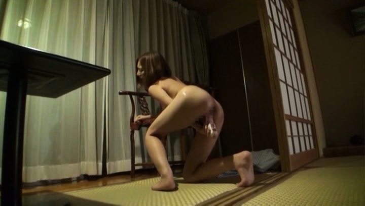 Japanese av model. Japanese AV Model fucks with dildo while getting other on jugs