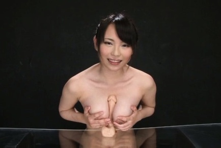 Akane yoshinaga. Akane Yoshinaga Asian touches her huge boobs