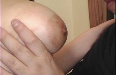 Sakura Kawamine big nipples are sucked by her horny boss